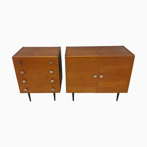 Sideboard and Chest of Drawers by František Mezulánik, 1960s, Set of 2