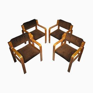 Esszimmerstühle von Ludvik Volak für Drevopodnik Holesov, 1960er, 4er Set