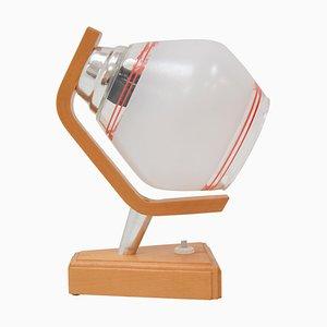 Lámpara de mesa de madera de Drevo Humpolec, años 70