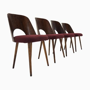 Buchenholz Esszimmerstühle von Oswald Haerdtl für Ton / Thonet, 1960er, Set of 4