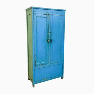 Blue and Green Two Door Wooden Factory Locker