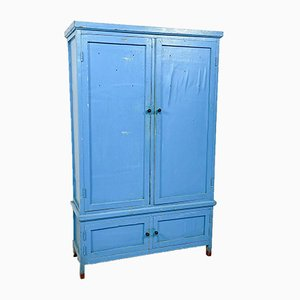 Blue Four Door Wooden Factory Locker