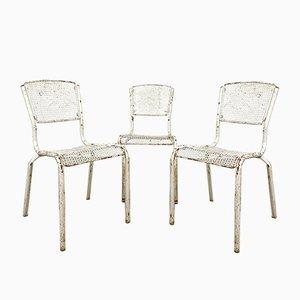 Industrielle Vintage Bistro Stühle von Matieu Matego Mateu Matego, 3er Set