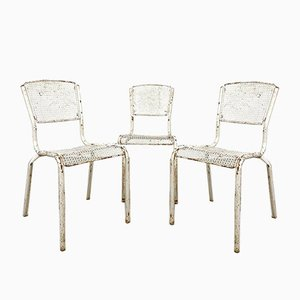 Vintage Industrial Bistro Chairs by Matieu Matego, Set of 3
