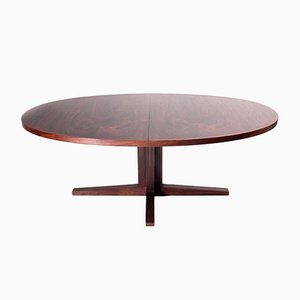 Mid-Century Scandinavian Oval Dining Table in Rio Rosewood by John Mortensen for Heltborg Møbler