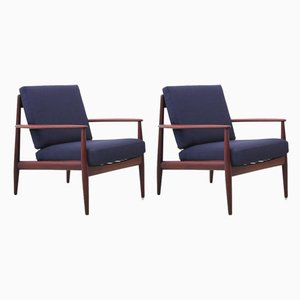 Mid-Century Model 118 Lounge Chairs in Teak by Grete Jalk, Set of 2