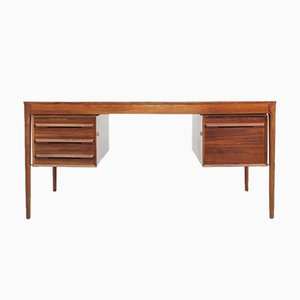 Mid-Century Scandinavian Desk in Rio Rosewood by Torbjørn Afdal for Bruksbo