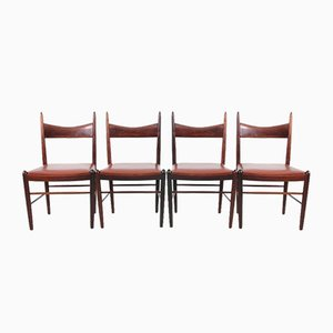 Mid-Century Dining Chairs in Rio Rosewood by H. Vestervig Eriksen, Set of 4