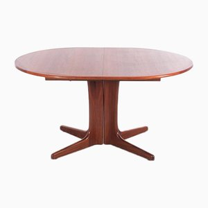 Mid-Century Scandinavian Oval Dining Table in Teak
