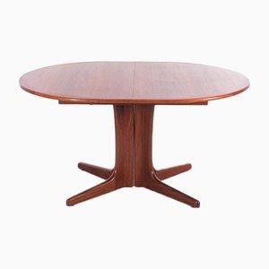 Mid-Century Scandinavian Oval Dining Table in Teak
