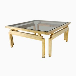 Brass and Smoked Glass Coffee Table, 1970s