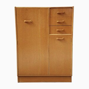 Mid-Century Oak Tallboy Wardrobe from G-Plan