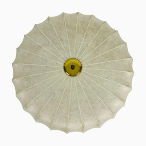 Runder Mid-Century Cocoon Deckenfluter, 1960er