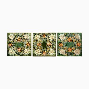 Glazed Art Nouveau Tiles, 1920s