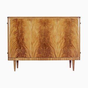 Skandinavisches Mid Century Flame Mahagoni Sideboard, 1950er