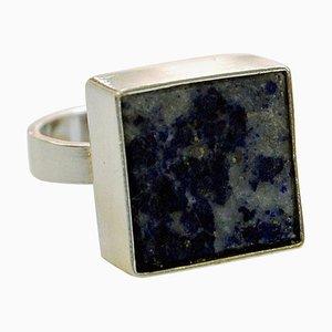 Dänischer Silberring mit Lapis Lazuli Stein von Brdr. Bjerring, 1970er