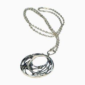 Collana Spiderweb in argento di Karl Laine, Finlandia, anni '70