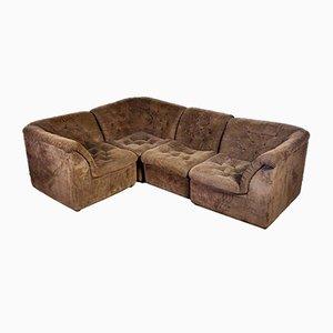 Vintage Brown Modular Corner Sofa