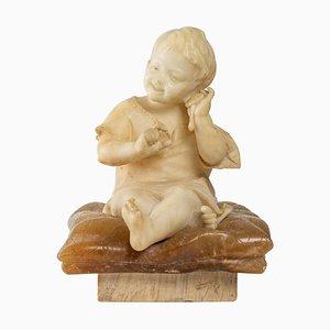Alabaster Figur eines Kleinen Kindes