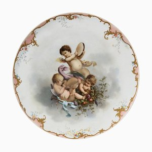 Finales de siglo XIX Placa de porcelana