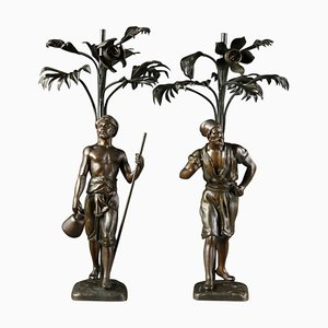 Orientalische Statuen in Regula, 2er Set