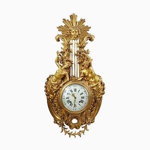 Reloj Cartel grande de bronce dorado, siglo XIX