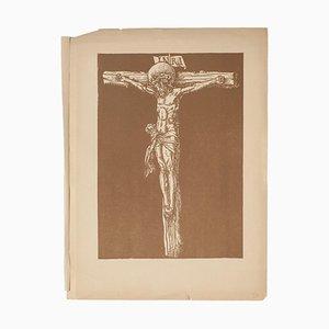 Litografía original de Jacques Beltrand - Cristo - 1928