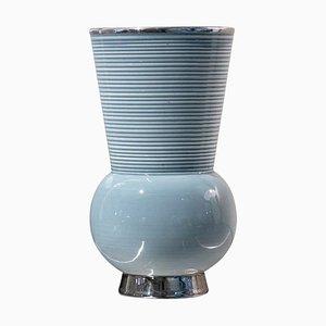 Blaue Keramik Vase von Richard Ginori, Italien, Mitte 20. Jahrhundert