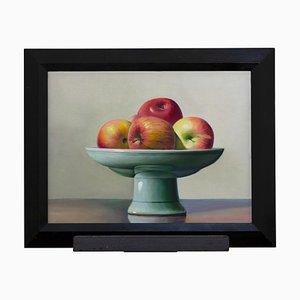 Zhang Wei Guang / Mirror - Naturaleza muerta con manzanas - Óleo sobre lienzo - década de 2000