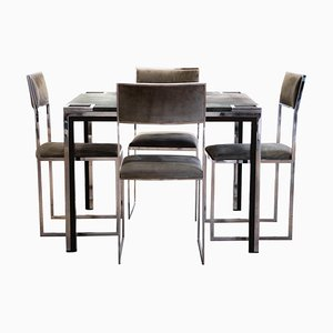 Vintage Play Table with Chairs by Willy Rizzo, Italy, 1970s, Set of 5