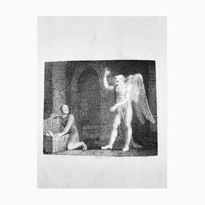 Fábulas, libro raro vintage ilustrado por William Blake, 1793