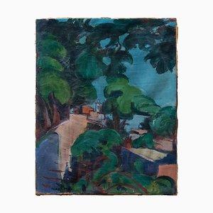 Giulio Turcato - Rome Villa Borghese Garden, Trinità dei Monti - Oil on Canvas