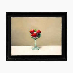 Zhang Wei Guang / Mirror - Cup with Strawberries - Oil on Canvas - 2000s