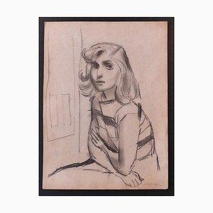 Nicola Simbari - Woman - Lápiz de dibujo original - años 60