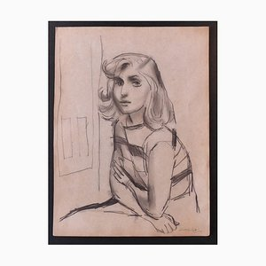 Nicola Simbari - Woman - Original Pencil Drawing - 1960s
