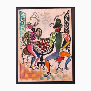 Nicola Simbari - Dancers - Original Drawing - 1960s