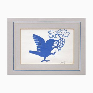 Mino Maccari - The Little Bird - Acuarela original - años 50