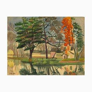 Jane Levy - Landscapes - Encre Originale, Pastel et Aquarelle - 1930s