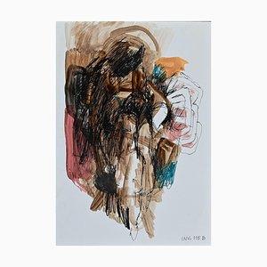 Leo Guida - Abstrakte Komposition - Original Aquarell und China Tinte - 1970er