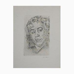 Mino Maccari - Retrato 1930/35 - Aguafuerte original - años 30