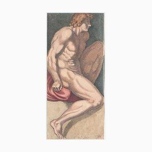 Carlo Cesi - Figurine - Original Radierung - Spätes 17. Jahrhundert