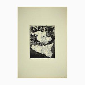 Aguafuerte original de Leo Guida - The Giant Tifeo - 1975