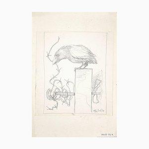 Leo Guida - The Crow - Lápiz de dibujo original - 1972