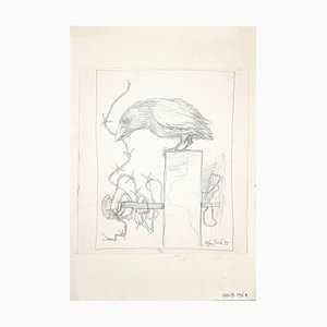 Leo Guida - The Crow - Original Pencil Drawing - 1972