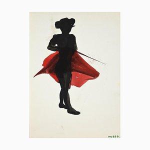 Litografía Leo Guida - Matador - Original Monotype - Finales del siglo XX