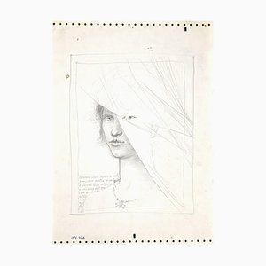 Leo Guide, Female Figure, Pencil, 1980s