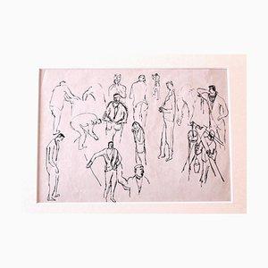 Herta Hausmann - Figures - Dibujo original de tinta - Mid-20th Century