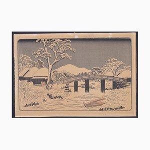 Utagawa Hiroshige - Hodogaya, Reisho Tokaidodate - Holzschnitt Druck - 1833