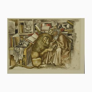 St Daniel, Offset by Renato Guttuso, Late 20th Century
