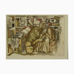 St Daniel, Offset von Renato Guttuso, spätes 20. Jahrhundert